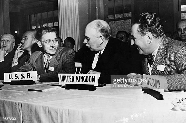 English economist John Maynard Keynes 1st Baron Keynes attends the United Nations International Monetary and Financial Conference at the Mount...