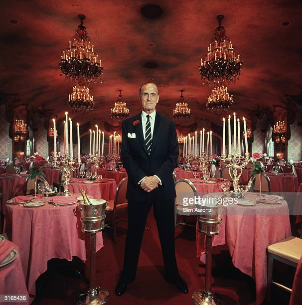 Colonel Serge Obolensky at the St Regis Roof restaurant which he created in New York