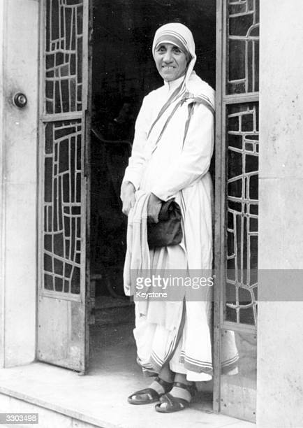 Roman Catholic nun Mother Teresa at the Little Brothers of the Poor Mission in Paris She left France nineteen years ago to promote the foundation of...