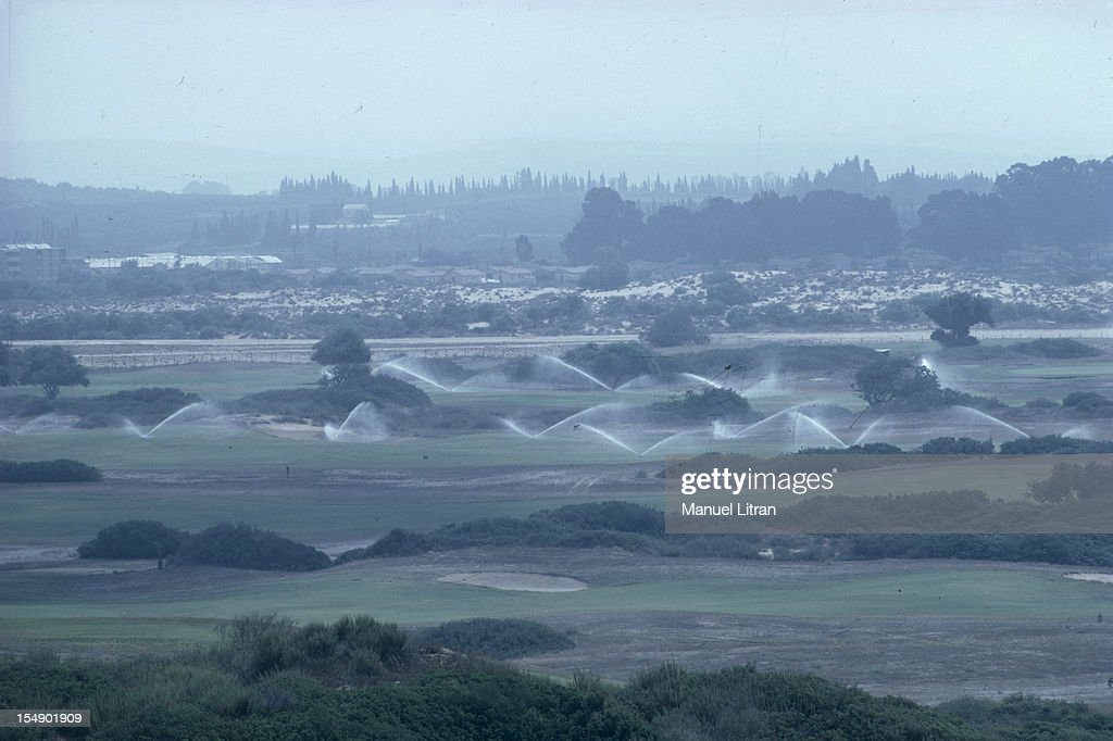 July 1967 after the 'Six Day War' Israel tripled its surface area The new frontier of the Hebrew state Irrigates landscape