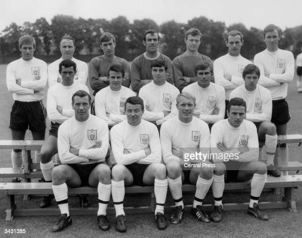 Members of the Fulham football team Fred Callaghan George Cohen Ian Seymour Tony Macedo John McClelland Roy Matthewson and John Dempsey Joe Gilroy...