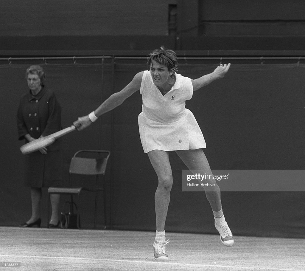 Margaret Court seen during the Wimbledon Women's Singles Final in which she beat Billie Jean King by 1412 119 It was the longest women's final in the...