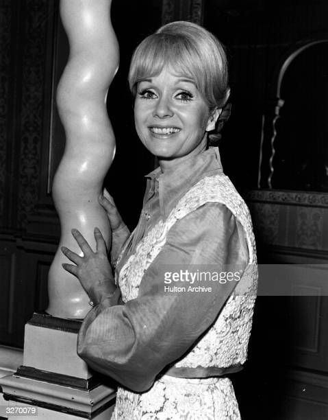 American actress and singer Debbie Reynolds at the London Palladium where she is appearing in her own show