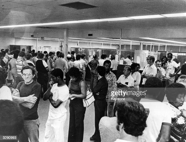 Unemployment line stock photos and pictures getty images - Michigan unemployment office ...