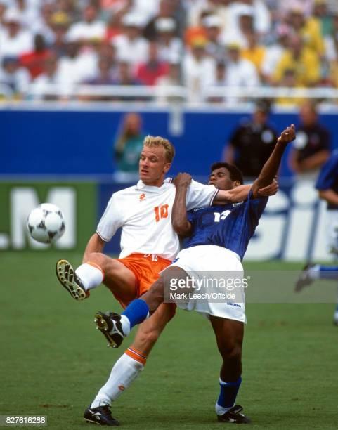 Fifa World Cup Brazil v Netherlands Dennis Bergkamp controls the ball under pressure from Mazinho of Brazil Photo Mark Leech