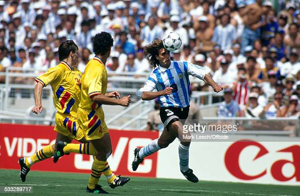 03 July 1994 Fifa World Cup Romania v Argentina Gabriel Batistuta of Argentina in action