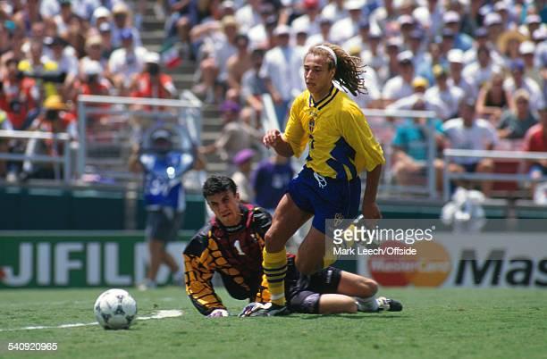 16 July 1994 FIFA World Cup Sweden v Bulgaria Henrik Larsson of Sweden