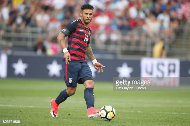 Dom Dwyer of the United States in action during the United States Vs Ghana International Soccer Friendly Match at Pratt Whitney Stadium on July 1st...