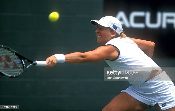 31 July 2001 Monica Seles during the Acura Classic La Costa Spa and Resort San Diego CA