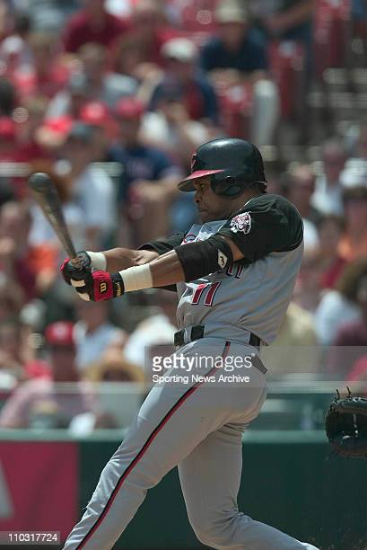 Barry Larkin of the Cincinnati reds during the Reds 41 loss to the St Louis Cardinals at Busch Stadium in St Louis MO