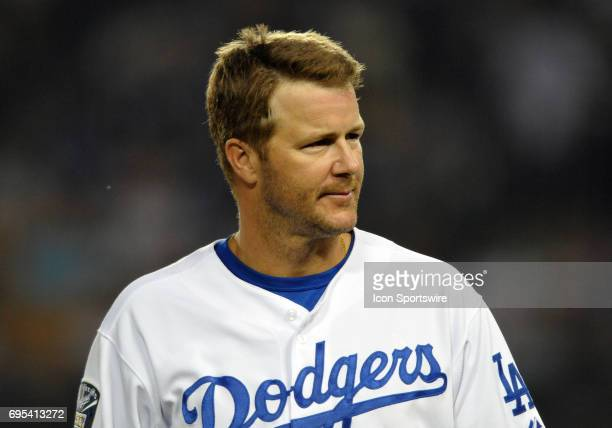 Dodgers Jeff Kent during a Major League Baseball game between the Los Angeles Dodgers and the San Francisco Giants played at Dodger Stadium in Los...