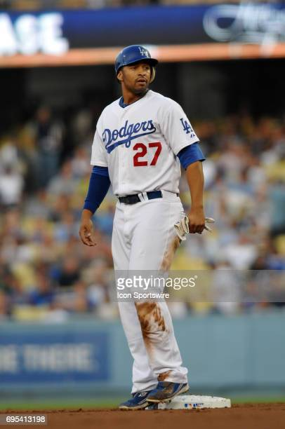 Dodgers Matt Kemp during a Major League Baseball game between the Los Angeles Dodgers and the San Francisco Giants played at Dodger Stadium in Los...