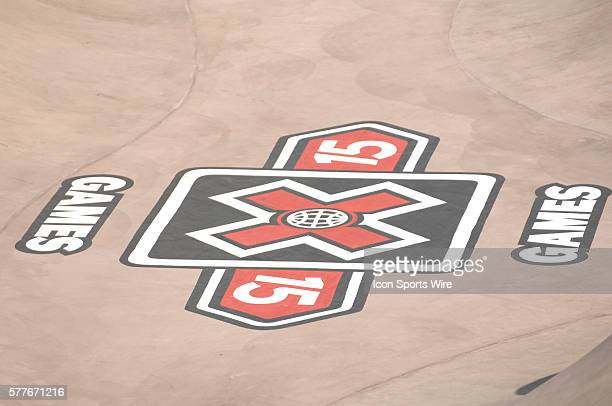 X Games logo on the bottom of the Park course ESPN X Games 15 Los Angeles CA