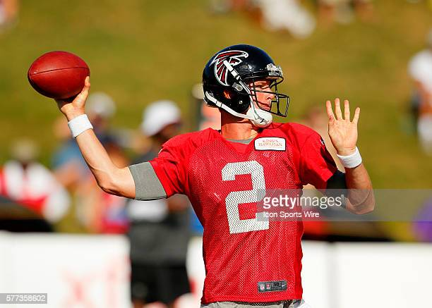 Atlanta Falcons quarterback Matt Ryan during training camp at Falcons headquarters in Flowery Branch Georgia
