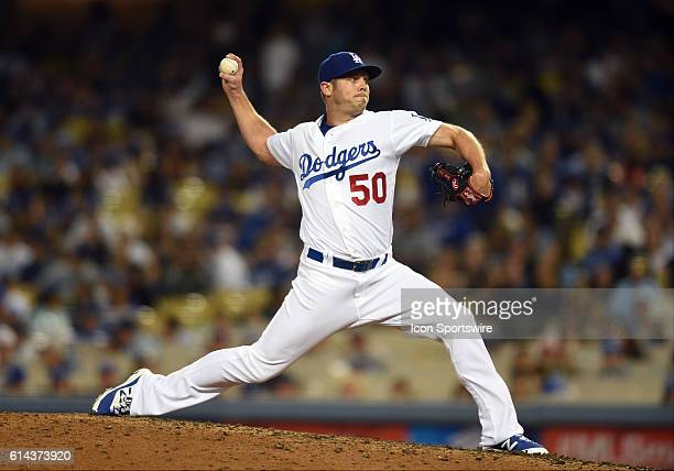Los Angeles Dodgers Pitcher Casey Fien [9006] during a Major League Baseball between the Colorado Rockies and the Los Angeles Dodgers at Dodger...