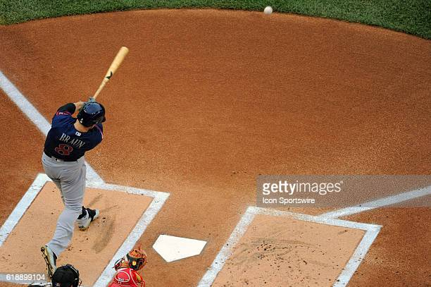 Milwaukee Brewers left fielder Ryan Braun is called out after batting out of order against the Washington Nationals at Nationals Park in Washington DC