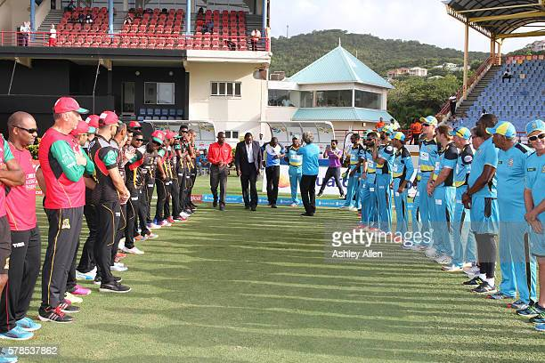 July 2016 Permanent Secretary in the Ministry of Youth Development and Sports Dr Anthony George 2nd from left Darren Sammy 3rd from left and Johnson...