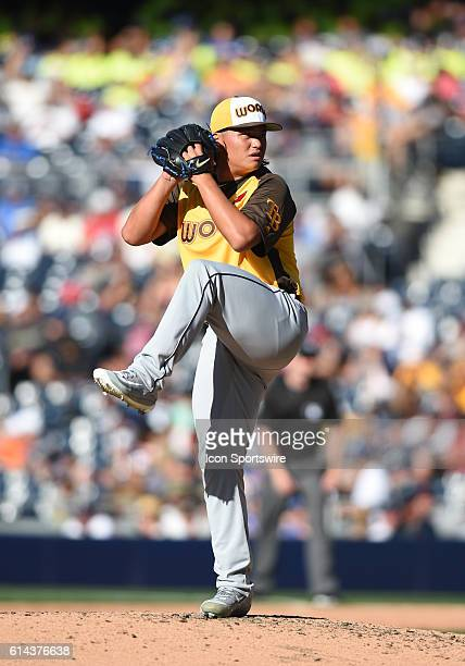 Team World ChihWei Hu during the MLB AllStar Futures Game at PETCO Park in San Diego CA