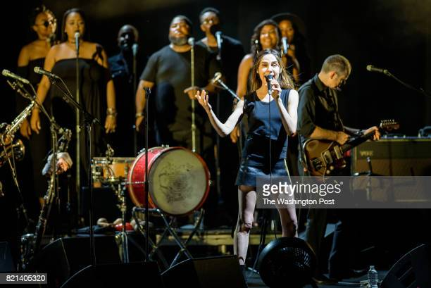 VIENNA VA July 21st 2017 PJ Harvey performs with Anacostia's Union Temple Baptist Church Choir at the Filene Center at Wolf Trap in Vienna VA A trip...