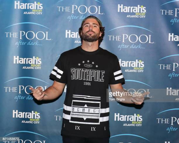 Brody Jenner performs at The Pool After Dark at Harrah's Resort on Saturday July 22 2017 in Atlantic City New Jersey