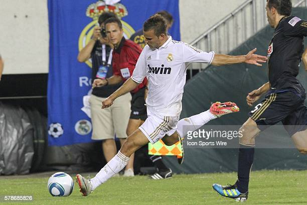 Real Madrid Forward Jese Rodriguez shoots the ball during the World Football Challenge friendly match between Real Madrid and the Philadelphia Union...