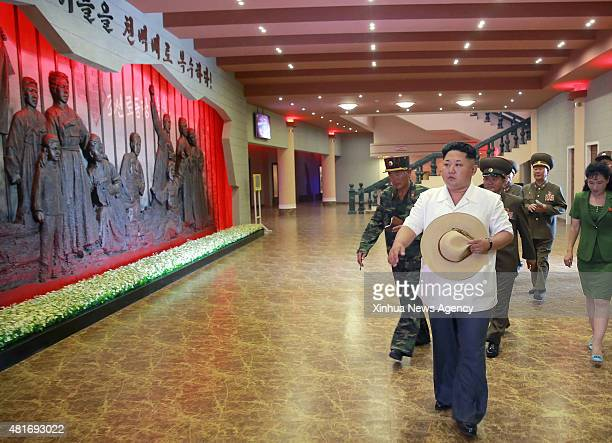 PYONGYANG July 23 2015 Photo provided by Korean Central News Agency on July 23 2015 shows top leader of the Democratic People's Republic of Korea Kim...