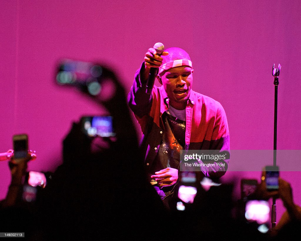WASHINGTON DC July 23rd 2012 RampB sensation Frank Ocean performs during a soldout show at the 930 Club in Washington DC Ocean who recently declared...