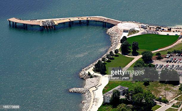 July 25 2008 The Brant Street Peir a 132metre Sshaped pier currently under construction at the foot of Brant St in Burlington will feature a wind...