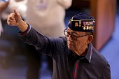 CITY July 25 2016 Former Philippine President Fidel Ramos attends the State of the Nation Address at the Batasang Pambansa in Quezon City the...