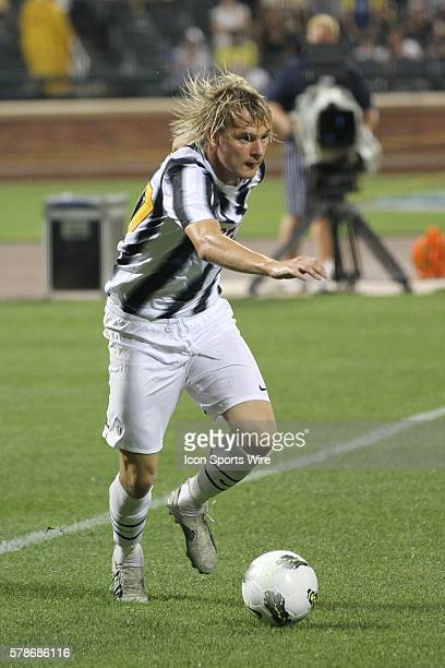 Juve's Milos Krasic during the World Football Challenge friendly match between Club America and Juventus at Citi Field in Flushing NY