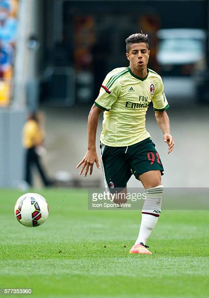 AC Milan forward Hachim Mastour looks to make a run with the ball during the second half of the International Champions Cup soccer match between...