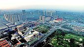 TANGSHAN July 27 2016 Photo taken on July 26 2016 shows an aerial view of downtown Tangshan north China's Hebei Province In the early hours of July...