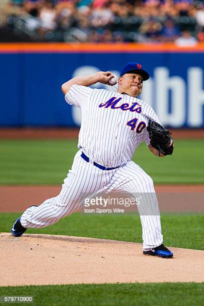 New York Mets Starting pitcher Bartolo Colon [1294] during a MLB game between the San Diego Padres and the New York Mets at Citi Field in Flushing NY...
