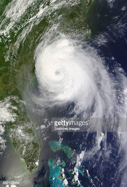July 3, 2014 - Satellite view of Hurricane Arthur off the coast of North Carolina.
