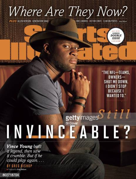 July 3 2017 July 10 2017 Sports Illustrated Cover Where Are They Now Portrait of former NFL QB Vince Young during photo shoot at Vince Young...