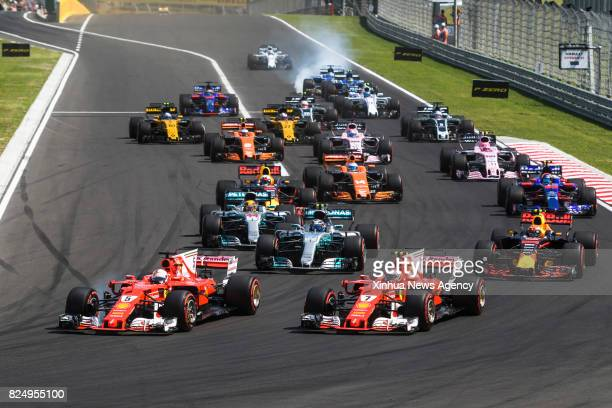 MOGYOROD July 30 2017 Photo shows a general view of the start of the Hungarian F1 Grand Prix race at Hungaroring in Mogyorod Hungary on July 30 2017