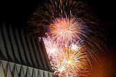 July 4, 2009 - Fireworks explode over the Air Force Academy Cadet Chapel during the Fourth of July f