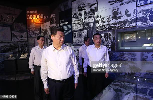 BEIJING July 7 2015 Top Communist Party of China and state leaders Xi Jinping second left Li Keqiang right Zhang Dejiang left and Yu Zhengsheng...