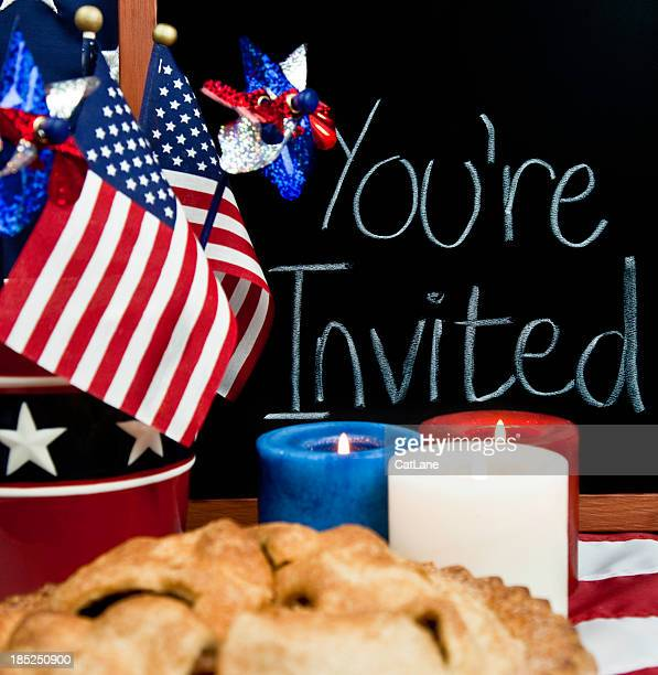 July Fourth Patriotic Party Invitation