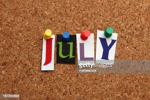 July pinned on noticeboard