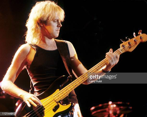Musician Tom Hamilton of the rock group Aerosmith performs at the World Music Festival in Los Angeles California on July 7 1978