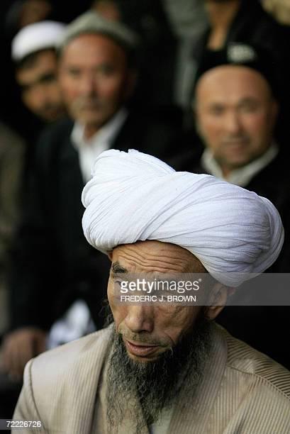 Juma Damola Haji head Iman at the Idkah Mosque in Kashgar 15 October 2006 in China's far west Xinjiang Uighur Autonomous Region in Central Asia Known...