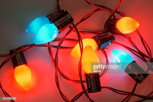 Orné de lumières de Noël