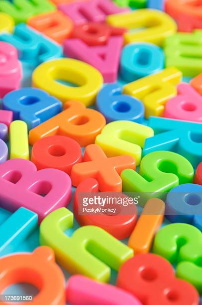 Jumble of Colorful Letters Vertical