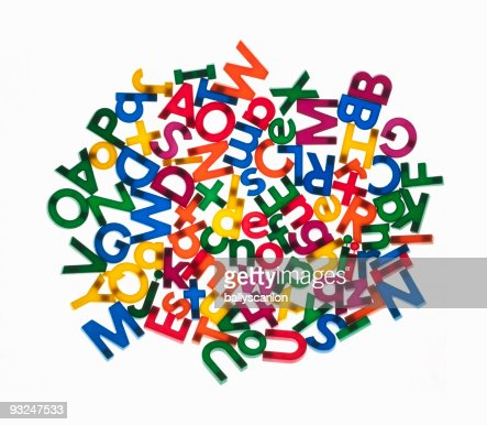 Jumbled Fridge Magnet Capital And Small Letters Stock