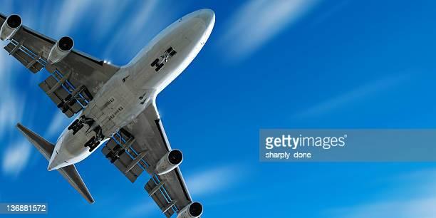 jumbo jet airplane landing