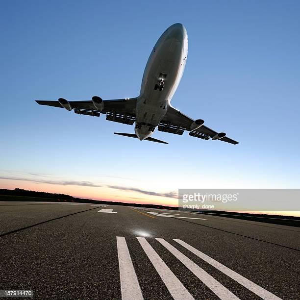XXL jumbo jet airplane landing