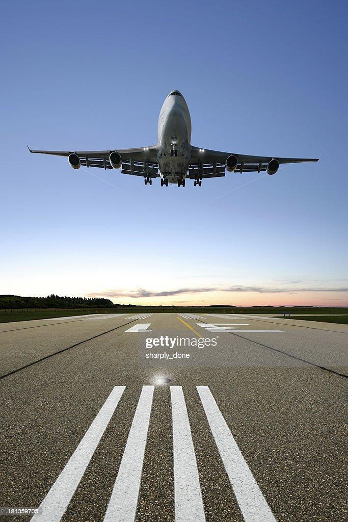 XL jumbo jet airplane landing