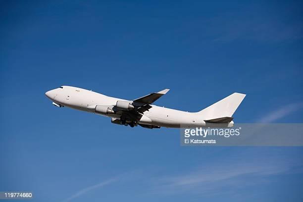 Jumbo jet taking off