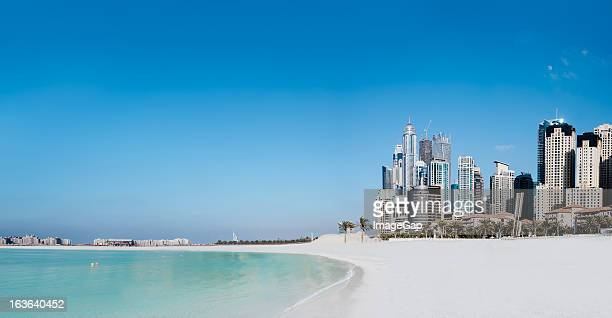 Jumeirah Beach and cityscape